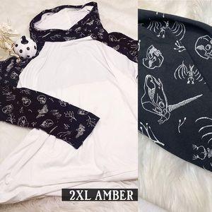 LLR CIR 2XL Skeleton Unicorn Amber BNWT